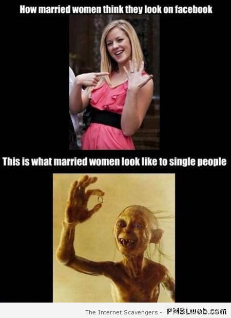 Married versus single women on facebook at PMSLweb.com