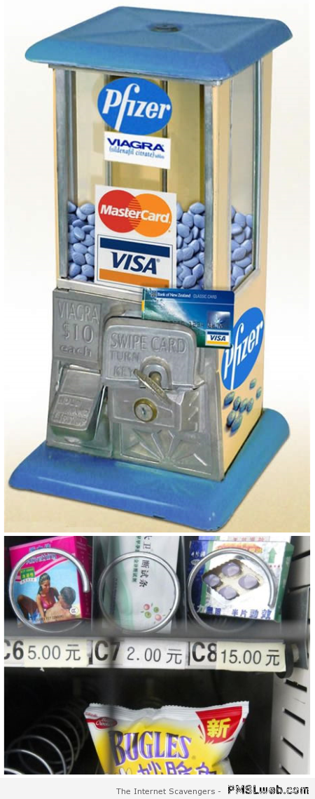 Viagra dispenser – Weird Vending machines at PMSLweb.com