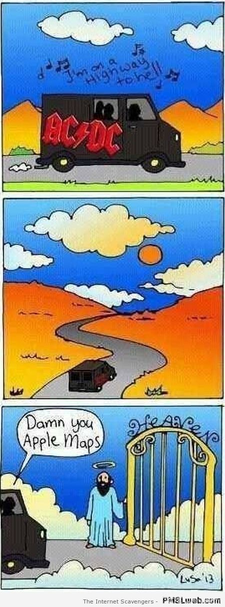 Highway to hell google maps cartoon at PMSLweb.com