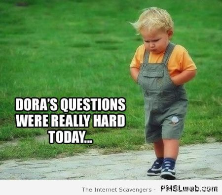 Dora's questions were very hard today at PMSLweb.com