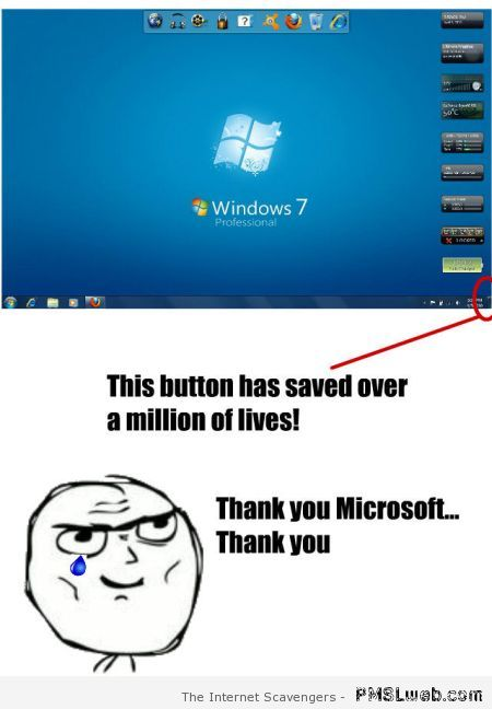 Thank you Windows meme at PMSLweb.com