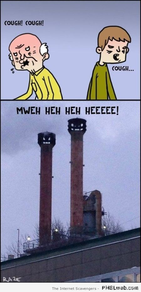 Evil chimneys humor – Thursday giggles at PMSLweb.com