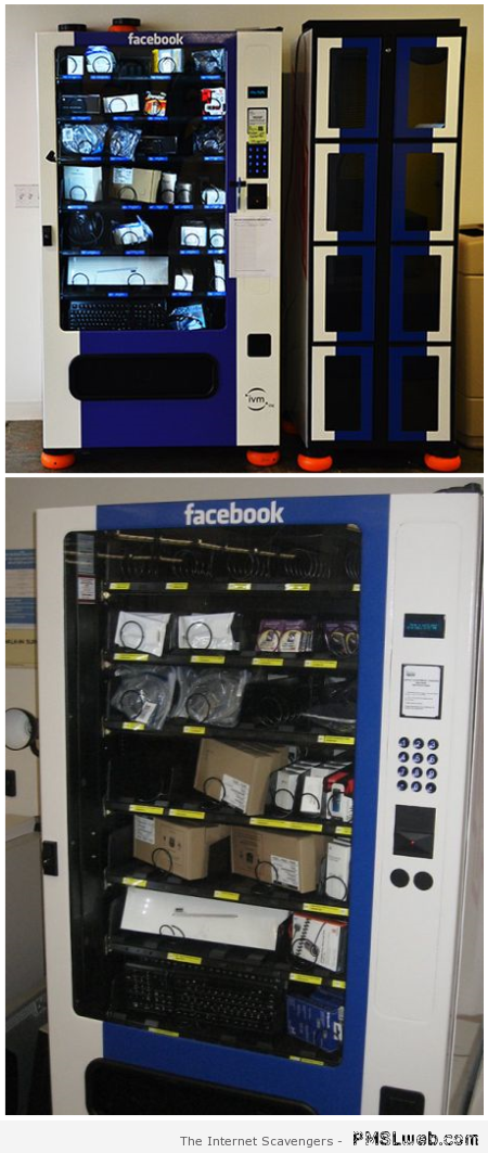 Facebook vending machine at PMSLweb.com