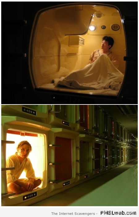 Capsule hotel – Weird Vending machine at PMSLweb.com