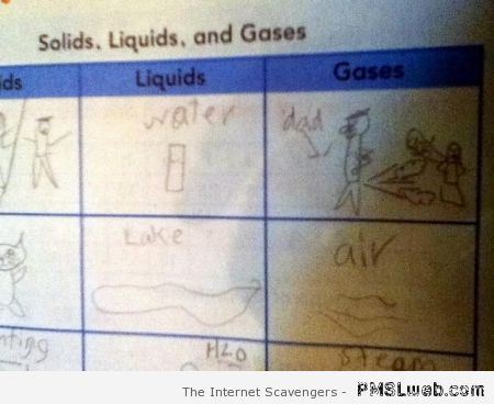 Gases child drawing fail – Sunday humor at PMSLweb.com