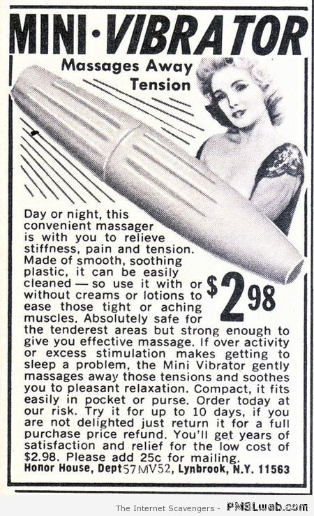 Mini vibrator vintage advert – Tgif laughter at PMSLweb.com