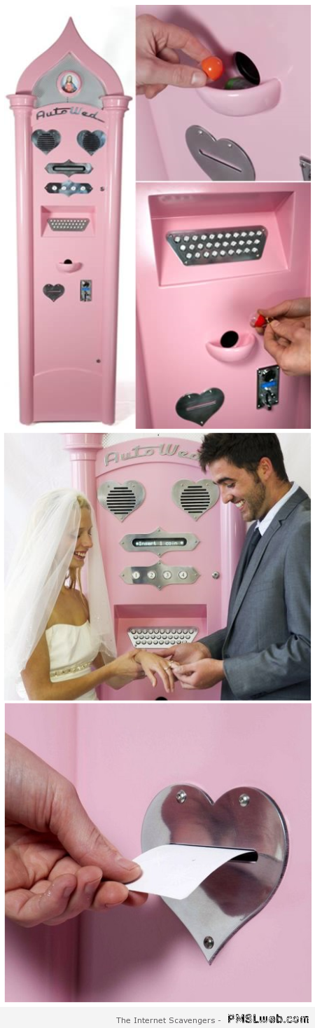 Wedding vending machine at PMSLweb.com