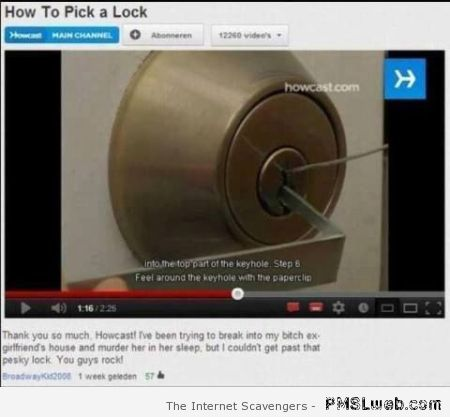 How to pick a lock – Fun pictures at PMSLweb.com