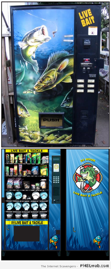 Live bait vending machines at PMSLweb.com