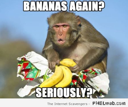 Bananas again monkey meme at PMSLweb.com