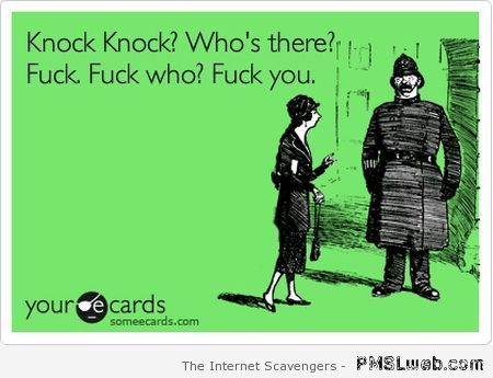 Knock knock who's there ecard at PMSLweb.com