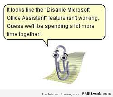 Microsoft clippy the scumbag – Computer humor on PMSLweb.com