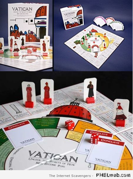 Vatican board game – Procrastination humor at PMSLweb.com