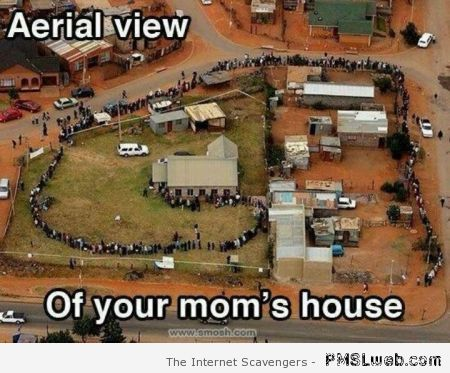Aerial view of your mum's house at PMSLweb.com