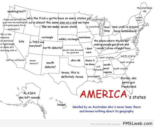 America's states as seen by an Australian at PMSLweb.com