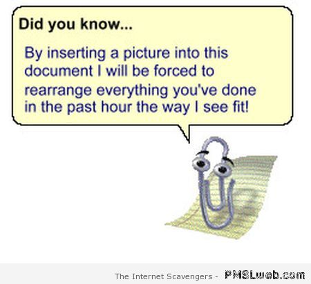 Microsoft clippy did you know – Computer humor at PMSLweb.com