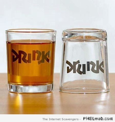 Drink and drunk glasses at PMSLweb.com