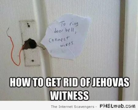 How to get rid of Jehovas witness meme at PMSLweb.com