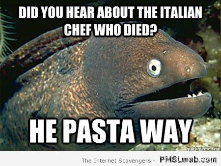 Did you hear about the Italian chef meme at PMSLweb.com