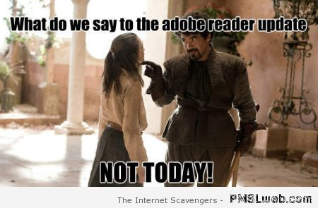 Adobe reader meme on PMSLweb.com