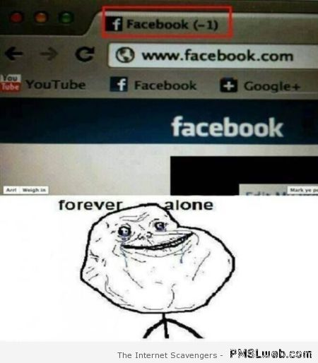 Facebook -1 forever alone – Tgif picture collection at PMSLweb.com
