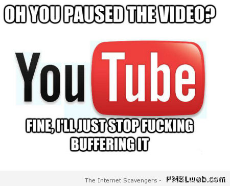 Pausing a video on Youtube – Computer humor at PMLweb.com