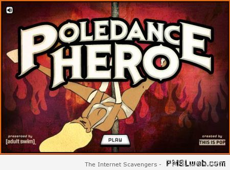 Poledance hero video game at PMSLweb.com