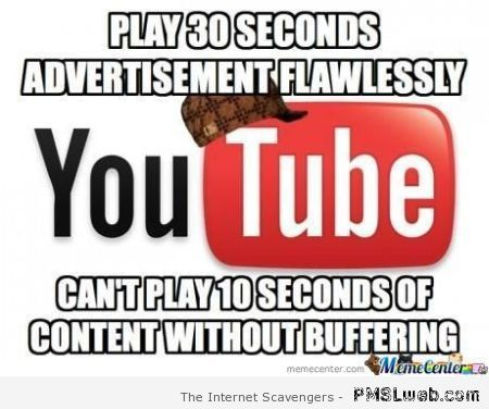 Youtube buffering humor at PMSLweb.com
