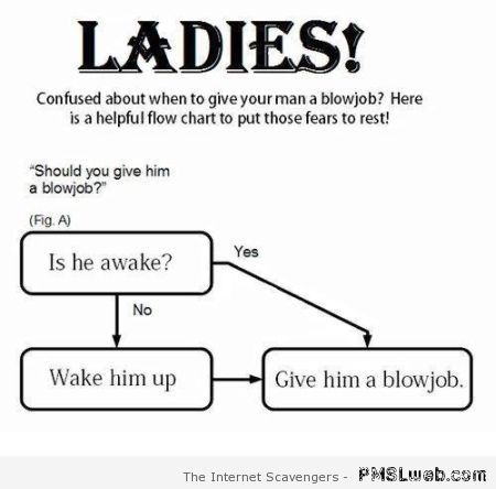 Ladies and blowjobs chart at PMSLweb.com