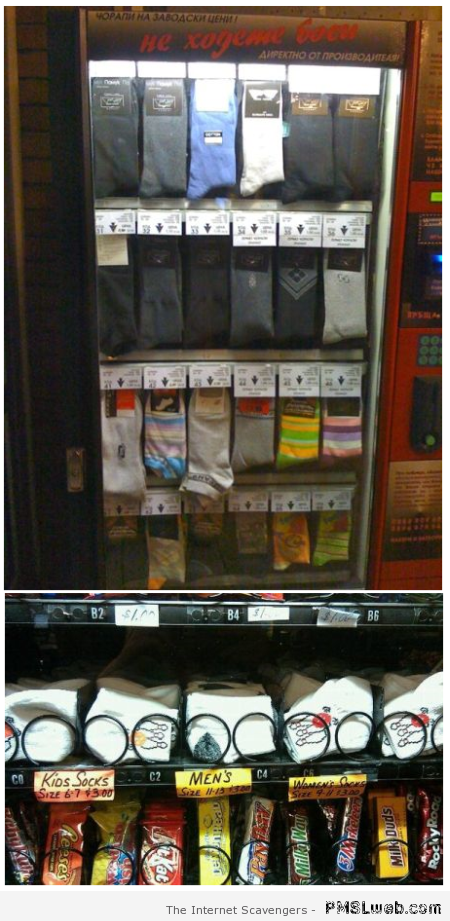 Socks – Weird Vending machines at PMSLweb.com