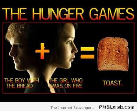 The hunger games toast at PMSLweb.com