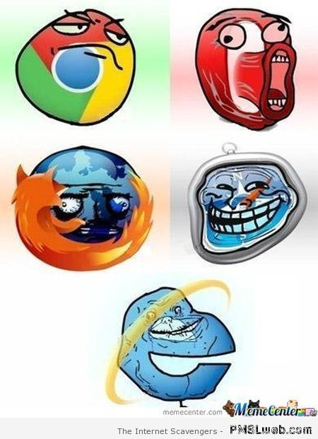 Internet explorer meme at PMSLweb.com