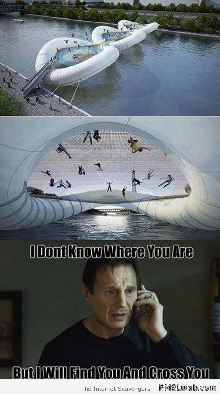 Trampoline bridge meme at PMSLweb.com