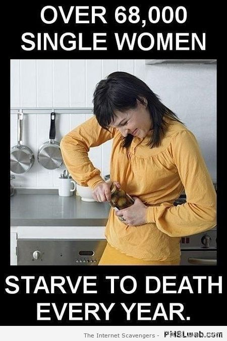 Women starve to death humor at PMSLweb.com