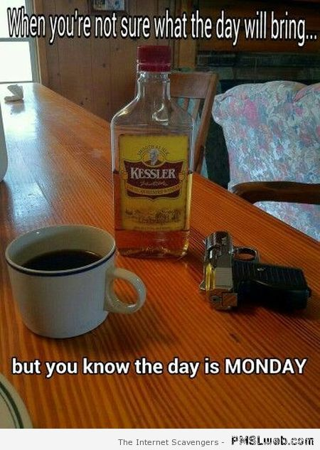 You know the day is Monday at PMSLweb.com