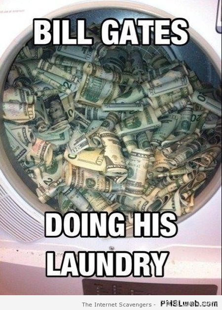 Bill Gates doing his laundry meme at PMSLweb.com