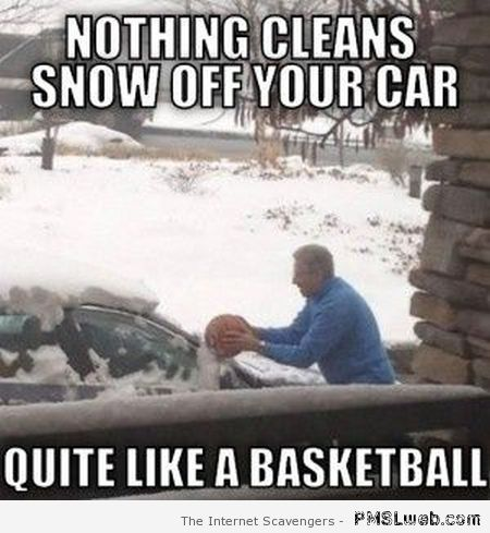Cleaning your car with a basketball – Hump day Lmao at PMSLweb.com