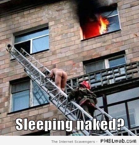 Sleeping naked meme at PMSLweb.com