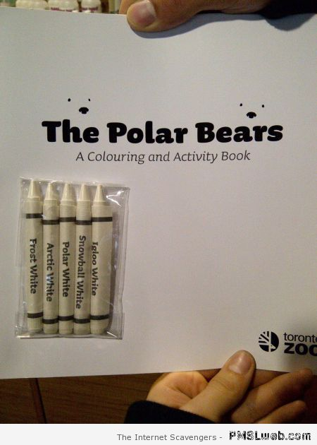 The polar bears coloring book at PMSLweb.com