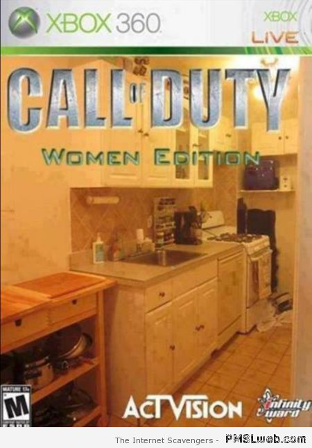 Call of duty woman's edition at PMSLweb.com