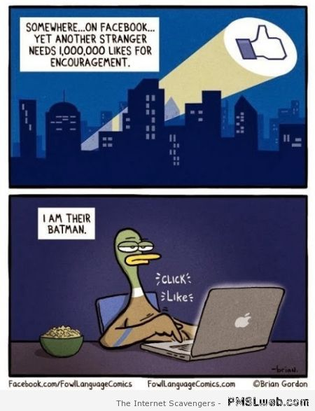 Facebook's batman cartoon at PMSLweb.com