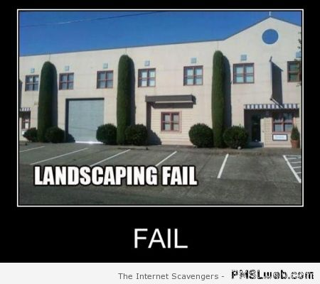 Landscaping fail at PMSLweb.com