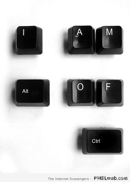 I am out of control keys – Funny computer pictures at PMSLweb.com