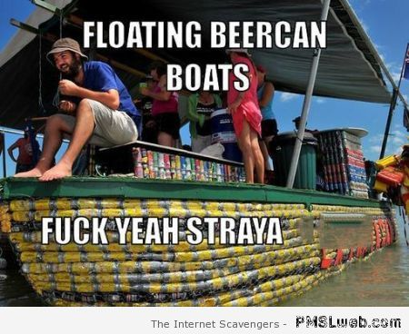 Floating beercan boats at PMSLweb.com