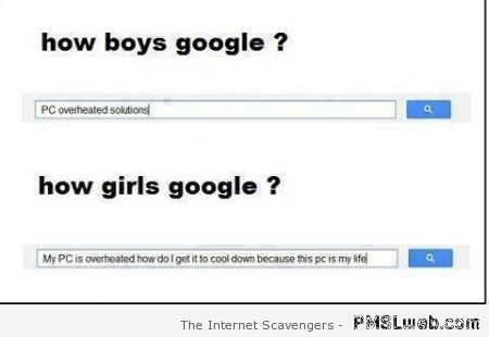 How boys google vs how girls google at PMSLweb.com