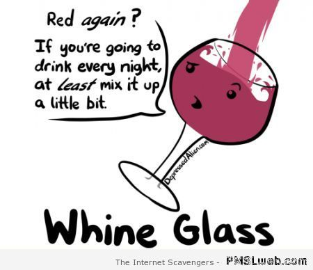 Whine glass humor at PMSLweb.com