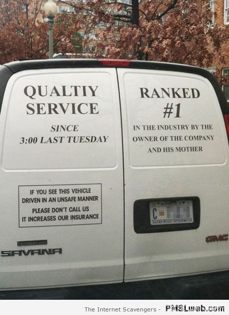 Quality service ranked 1 humor at PMSLweb.com
