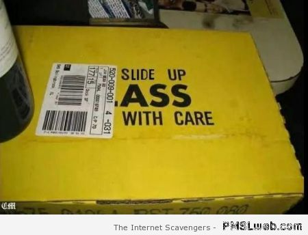 Slide up a** with care humor at PMSLweb.com