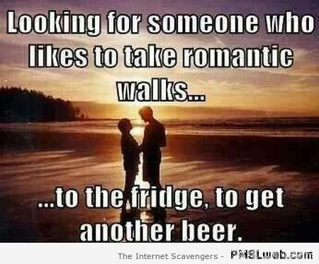 Someone who like staking romantic walks to the fridge at PMSLweb.com