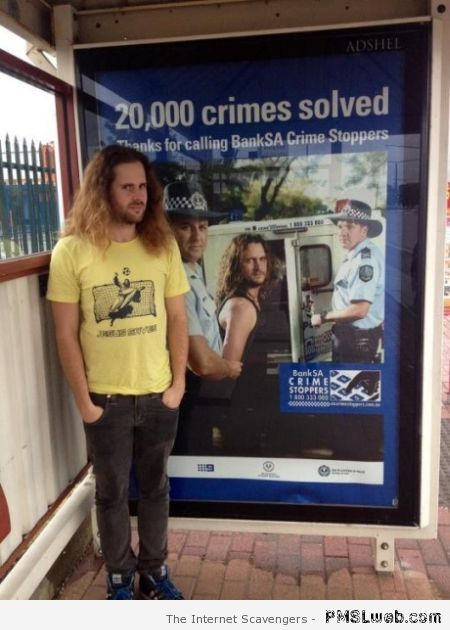 Crime poster humor – Funny picture collection at PMSLweb.com